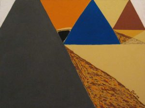 три пирамиды в ряд